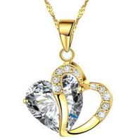 Wholesale BN25 Korean version of the trend of high end chain clavicle chain heart crystal necklace