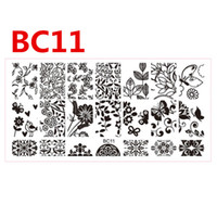stainless steel bc designs - NEW Polish Flowers Hot Designs Nail Stencils for Nails Decor Templates NEW x6cm Square Stamping Plates Beauty DIY BC
