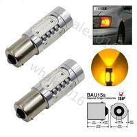 Wholesale 2Pcs BAU15S W Car Fog Light Bulb PY21W COB Auto Turn Signal Brake Amber