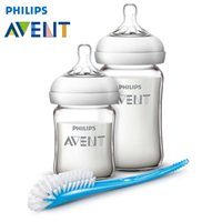 avent bottles glass - AVENT Natural Glass Bottles with Clean Brush Infant Newborn Security High Quality Mamadeira Learning Drinking Juice Milk Garrafa