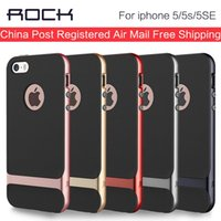 Wholesale ROCK For iphone s Case Silicone Cover Original Luxury Shockproof Hybrid Armor Protection Shell For iphone se ipone s