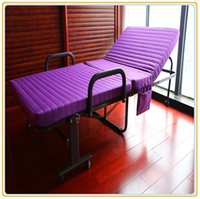 Wholesale Folding Metal Bed with Purple Color Mattress cm