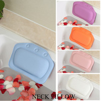 Wholesale Bathroom Spa Pillow Waterproof Bathtub Spa Bath Pillow With Suction Cups Head Neck Rest Bathtub Pillow