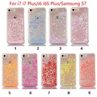 Wholesale iphone Case Fashion Transparent Fun Glitter Star Quicksand Liquid Phone Back cover For Iphone s plus Samsung S6 S7 S7 edge