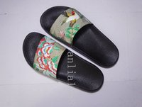 animal applique patterns - 2017 mens and womens fashion Tian bird flower print slide sandals with floral pattern boys and girls causal rubber footbed