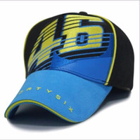 Wholesale 2015 New Design F1 Racing Cap Car Motocycle Racing MOTO GP VR Rossi Embroidery Sport Hiphop Cotton Trucker Baseball Cap Hat