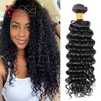 meilleurs vendeurs de tissus de cheveux achat en gros de-Brazillian Deep Wave 3 Bundles Brésilien Virign Hair Curly Weave Extensions de cheveux MS OSA Company Extension de cheveux humains 1b # Best Vendor