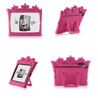 Wholesale Kids Case for iPad mini Castle Rose Tablet Portable lovely EVA foam Stand Holder Royal Crown Drop Resistance Protective Back Cover