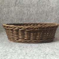 antique wicker baskets - Bread basket Copy the cane makes up bamboo wicker Weaving fruit show blue rectangle desktop receive basket tray supermarkets