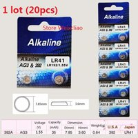 Wholesale AG3 LR41 A SR41 L736 V Alkaline Button Cell Battery for Car Key Remote Toy Watch