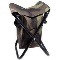 Wholesale New Outdoor Portable nylon Aluminum Step Stool Folding Fishing Chair Camping Chair Seat Beach Picnic Camping Equipment