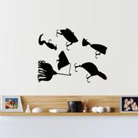 PVC art lures - Fishing Lures Fish Salt Fresh Water Rod Graphic Wall Sticker Decal Stickers Bedroom Living Room Decorative Murals Vinyl Art