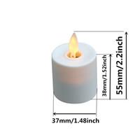 LED recargable velas de luz de té sin llama voces difundidas con remoto y temporizador Juego de 12 marfil