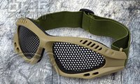 Wholesale New Tactical Outdoor Steel Mesh Eyes Protective Goggles Glasses Eyewear