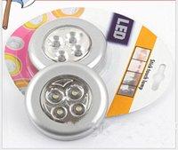 battery puck light - 5pcs LED Battery Operated Stick On Tap Light LED Puck Light Bulb Click Tap Cordless Touch Push Lamp Wireless Night Light