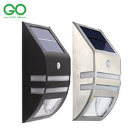 Wholesale LED Solar Wall Light Outdoor Garden Yard IP65 Pathway Balcony Porch Fence Motion Sensor Security Emergency Light Lampe Solaire