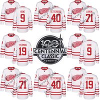 Wholesale Detroit Red Wings Steve Yzerman Dylan Larkin Henrik Zetterberg Gordie Howe Steve Yzerman th Centennial Classic Premier Player Jersey