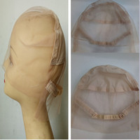 adjustable strap - Super fine Swiss French Lace Full Lace Wig Caps for Making Wigs with Adjustable straps epacket