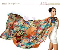 beautiful prints - 2016 The New Arrival mulberry silk scarves comfortable and beautiful Silk scarves large beach towels female shawls suit all season