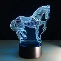 acryl gadgets - Horse Zebra D Optical Illusions Lamps Touch Cute Animal Night Light Christmas Prank Gifts Romantic Holiday Creative Gadget Horse