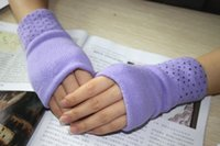 Invierno debe tener espesamiento de doble capa cálido guantes de punto medio dedo guantes estudiantes guantes calcetines de mano