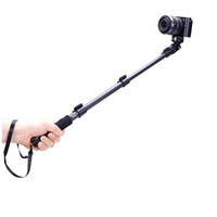 Wholesale Yunteng C C088 Extendable Handheld Tripod Monopod Adapter Self Held with Phone Clip for iPhone S DSLR Camera F16122752