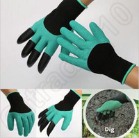 Wholesale Garden Gloves For Digging Planting Unisex Cut Resistant Nitrile No Worn Out Fingertips Unisex Claws Left Hand Claws LJJC5553 pair