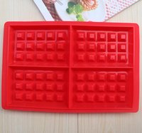 Wholesale 1PCS silicone nestle waffle mold High temperature resistant muffin mould breakfast waffle baking mould