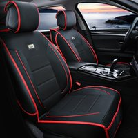 Wholesale new car seat set luxury full leather car seat Cushions four seasons general car Seat Covers