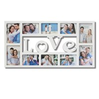 Wholesale 10 Opening Love Collage Picture Wall Hanging Photo Frame Wedding Gift Home Decor