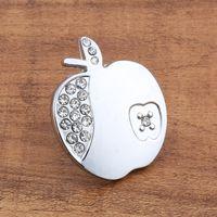 apple door knobs - 2017 new Apple Elegant Silver crystal single door knob cabinet handles kitchen crystal zinc alloy pulls furniture handles