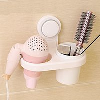 Wholesale Wall Mounted Hair Dryer Drier Comb Holder Rack Stand Set Storage Organizer New Excellent Quality Popular New