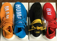 Unisex outdoor racing - 2017 Human Race NMD Factory Real Boost Yellow Red Green Black Orange NMD Men Pharrell Williams X Human Race NMD Running Shoes Sneakers