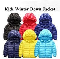 Wholesale 2016 New Arrival boys girls downcoat children s clothes kids warm down jacket boys down coat jackets outerwear Fee Shipping