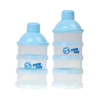 baby snack cup - Three milk box of portable storage tank supplies infant baby out four milk packaging materials safety box lattice snacks containing BPA