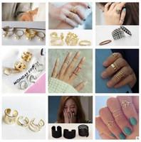 Wholesale DHL Vintage Bohemian BOHO Geometric finger joint ring Sets Turkish Midi Ring Set Joint Rings Jewelry gift for Women