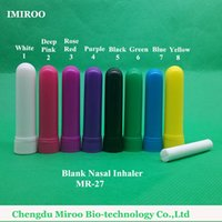 Wholesale sets Colored Nasal Inhaler Blank Sticks Essential Oil Inhaler Stick Blank Inhaler Sticks Colors