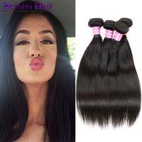 Brazilian Virgin Human Hair Weave Peruano Camboyano Mongol Indonesio de Malasia Recto Remy Extensiones de Pelo Largas Tejidos Estilos Paquetes Teñido