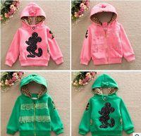 Wholesale Autumn Winter New Fashion Hoodies Cotton Korean Design Cartoon Warm Sweatshirts Tops Girl Two Sides Wear Clothes Drop Shipping AJ82