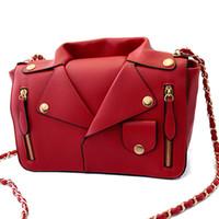 Wholesale Designer Handbags High Quality Women PU Leather Jacket Bags Women Clothing Shoulder Messenger Bag Day Clutch Purse bags S