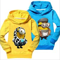Cheap Minions t shirt top quality baby girl clothes despicable me children clothing costume boys t-shirts casual sweatshirts unisex