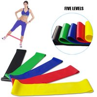 Wholesale resistance bands loop gym workout elastic pilates yoga natural latex natural latex body building fitness exercise high