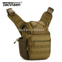 Militar Molle Saddle Bolsas Cross Body Pack HOMBRES Casual Sling de una sola correa de un hombro Campamento Bag Men Camera Rucksack