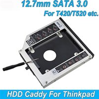 Wholesale Aluminum nd HDD Caddy mm quot SATA SSD Case HDD Enclosure For IBM Lenovo ThinkPad T420 T430 T510 T520 T530 Optibay
