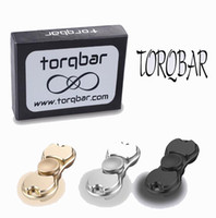 Wholesale Alloy Torqbar EDC HandSpinner Fingertip Gyro Hand Spinner Decompression Anxiety Fidget Spinner Toys With Box By DHL shipping