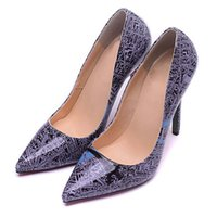 b maps - Unique Women Stiletto Heel Genuine Leather Mirror Pointed Toes Women Dress Shoes with New Map Pattern g6987