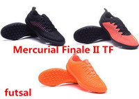 Wholesale 2017 mens fashion futsal MD Mercurial Finale II TF Soccer shoes Laceless Cleats Cheap Football boots