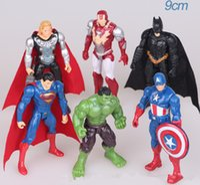 Wholesale The Avengers figures Action Figures Toy PVC Figure Captain America super hero batman thor Iron man PVC Figure KKA870