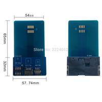 Wholesale Multi in Smart Card Pinboard Adapter Converter For SIM Micro SIM Nano SIM Card ISO7816 Smart IC Card W Free Ship
