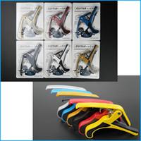 Wholesale 6 Colors Guitar Capo for Acoustic and Electric Guitars Total Aluminium Material Guitar Accessories